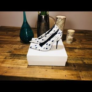 NWT Balenciaga Silk Polka Dot Knife Pumps Orig$995